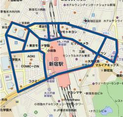 アドトラックのルート新宿