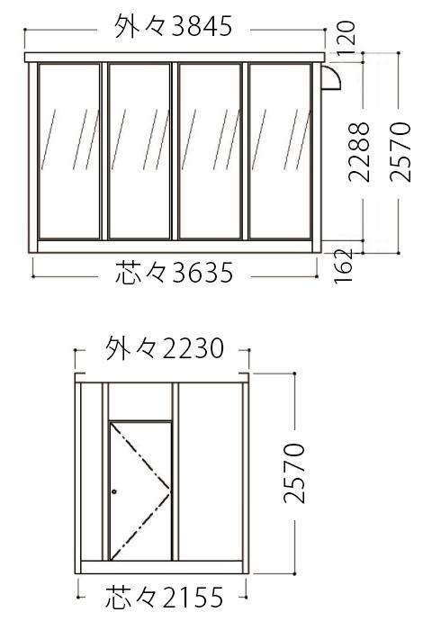 屋外喫煙室図面3