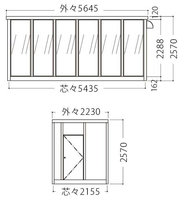 屋外喫煙室立面図4
