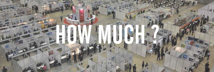 【展示会・イベント出展経験者が語る!】展示会にかかる費用ってどのくらい??『イラスト付き』で解説します!!
