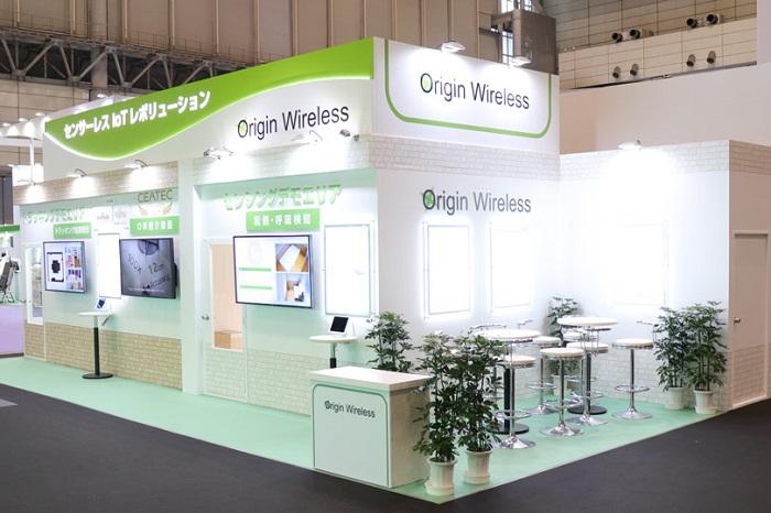 Origin Wireless Japan株式会社様の展示会ブース