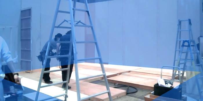 展示会の木工ブースの施工4:床底上げ