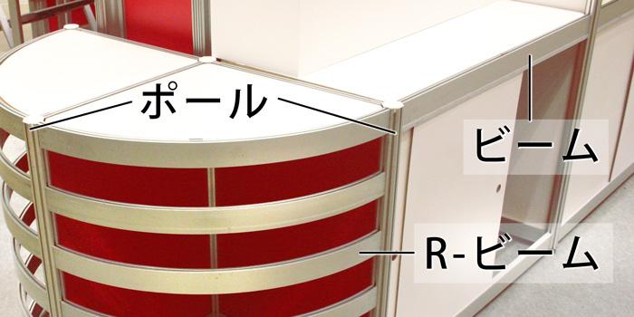 システム部材オクタノルム(Octanorm)のメインパーツ