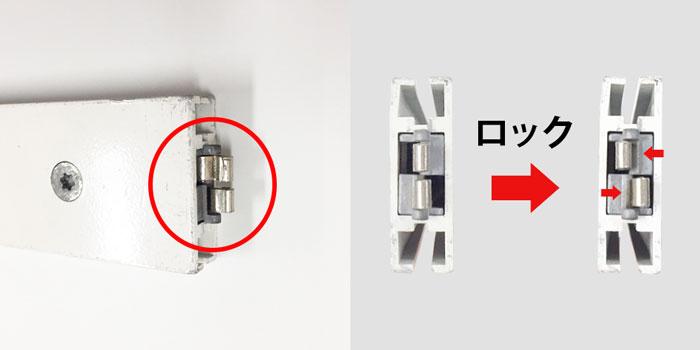 システム部材オクタノルム(Octanorm)のテンションロック
