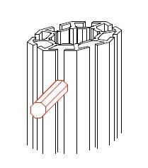 システム部材オクタノルム(Octanorm)のパーツハンマーヘッド