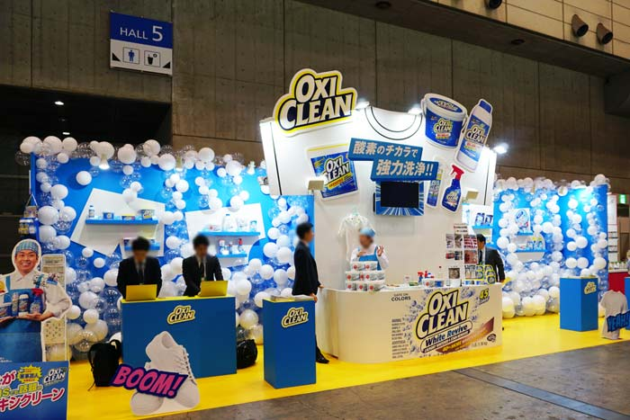 OXI CLEANさまの展示会ブース装飾