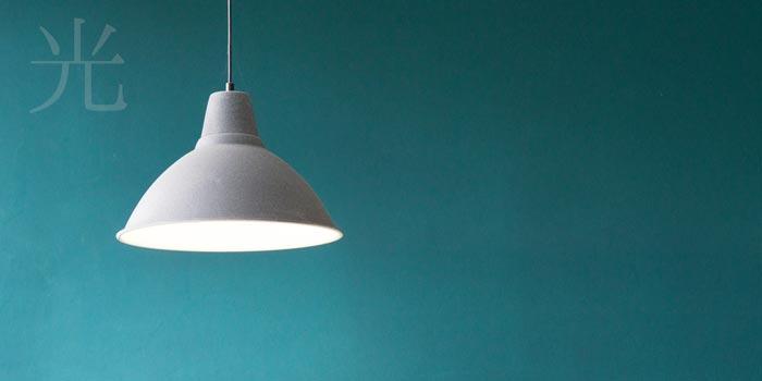 店舗の内装デザインのライト
